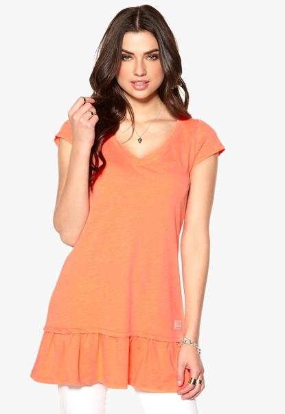 Odd Molly Chowdown Top Bright Orange Bubbleroom.se