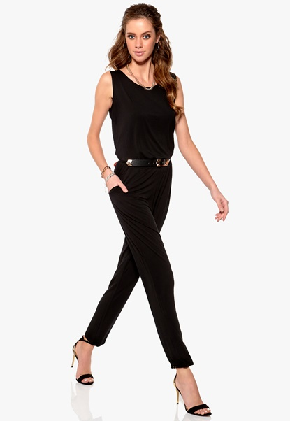 SOAKED IN LUXURY Iva Jumpsuit 050 Black Bubbleroom.se
