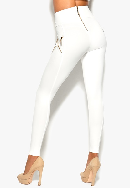 Chiara Forthi Shape Fix Highrise Pants Offwhite Bubbleroom.se