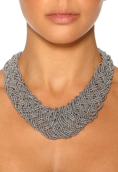 Pieces Elami Necklace Silver Colour Bubbleroom.se