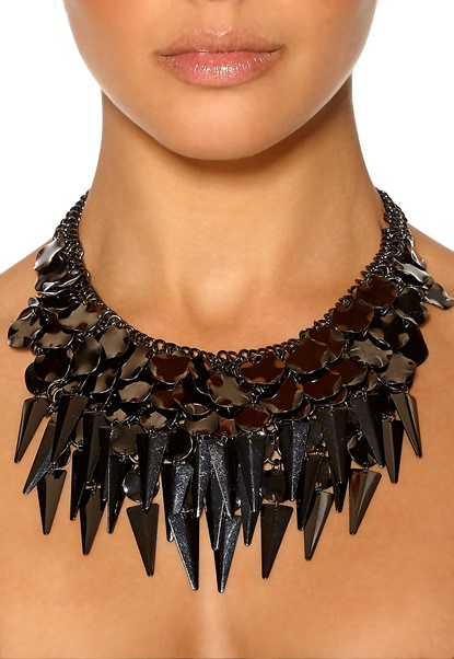 Pieces Lupita Necklace Gunmetal Bubbleroom.se