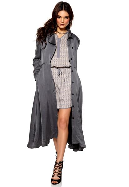 Diana Orving Robe Coat Grey Bubbleroom.se