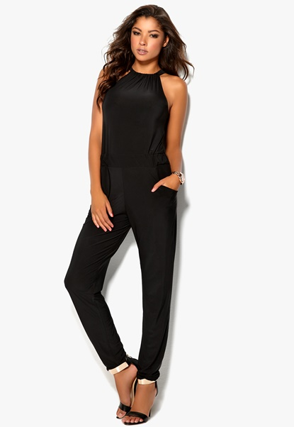 Mixed from Italy Jumpsuit Black Bubbleroom.se