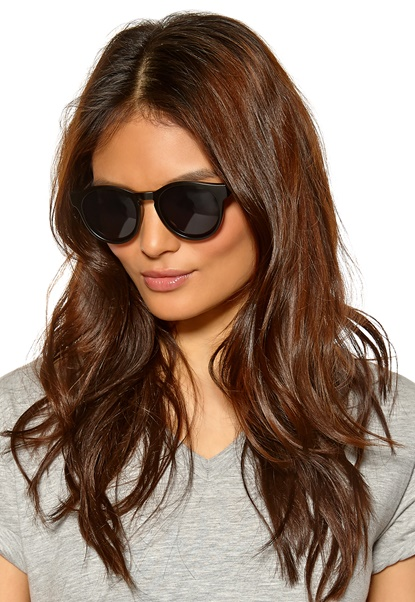 Le Specs Hey Macarena Sunglasses Matte Black/Smoke Mo Bubbleroom.se