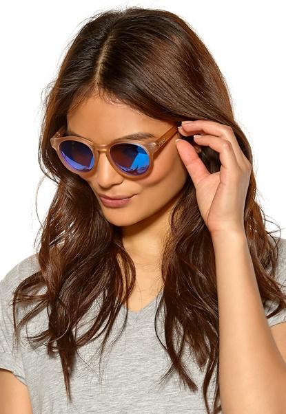 Le Specs Hey Macarena Sunglasses Matte Raw Sugar/Icy Bubbleroom.se