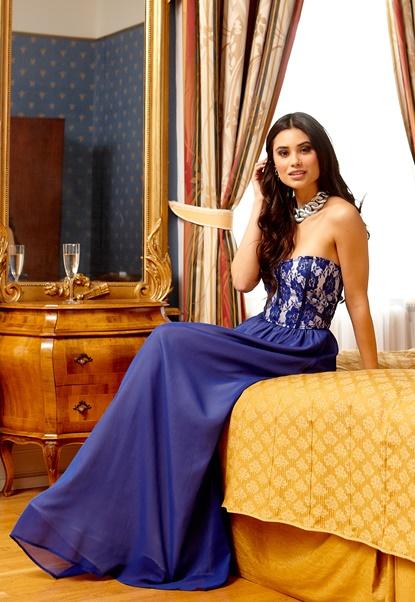 Make Way Nova Dress Blue/White Bubbleroom.se