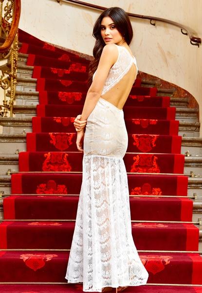 Make Way Doina Dress White Bubbleroom.se