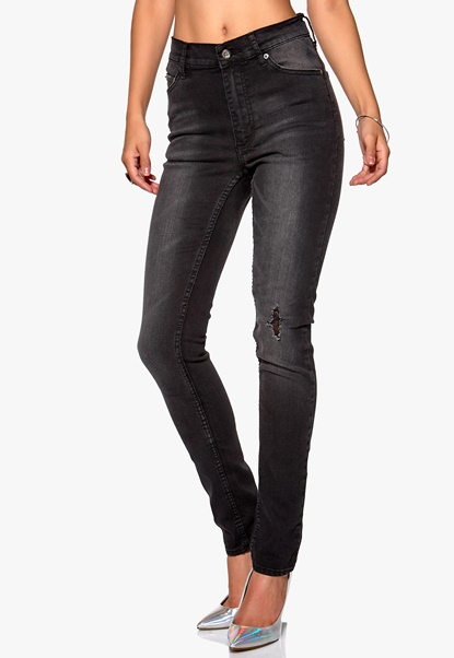 CHEAP MONDAY Second Skin Jeans Throwback Black Bubbleroom.se