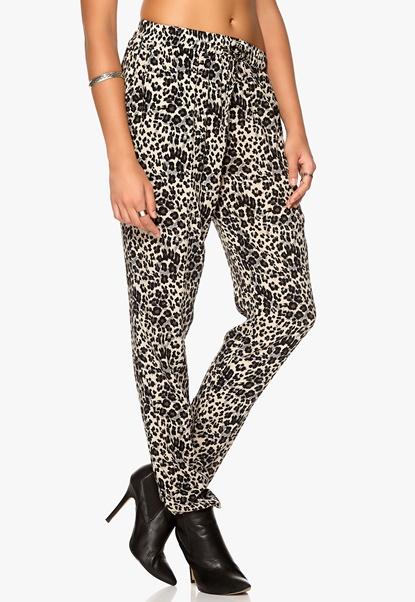 Culture Annilaline Pant Sand Leopard Bubbleroom.se