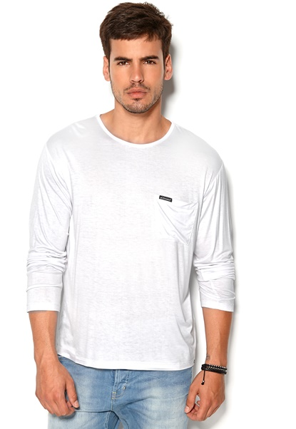 D.Brand Viktor Long Sleeve White Bubbleroom.se