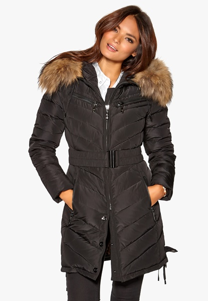 Hollies Davos Long Jacket Black Bubbleroom.se