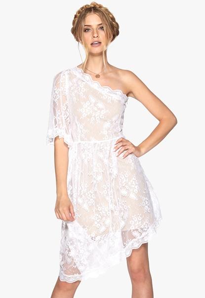 Make Way Janina Dress White/Nude Bubbleroom.se