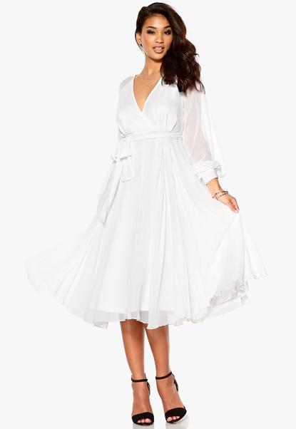 Make Way Elah Dress White Bubbleroom.se