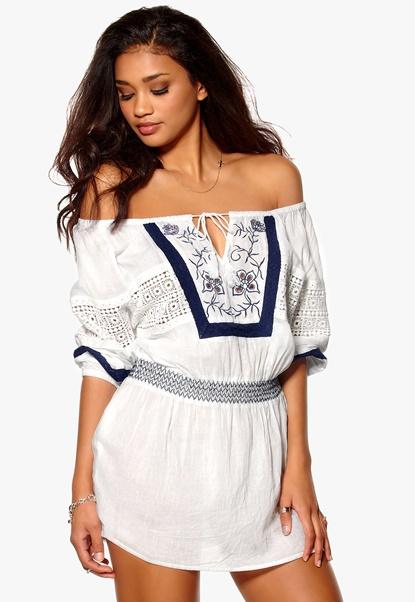 Make Way Gia Dress White/Blue Bubbleroom.se