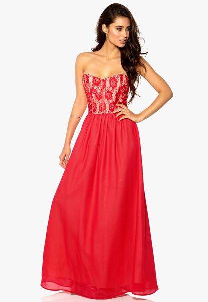 Make Way Nova Dress Red/Nude Bubbleroom.se