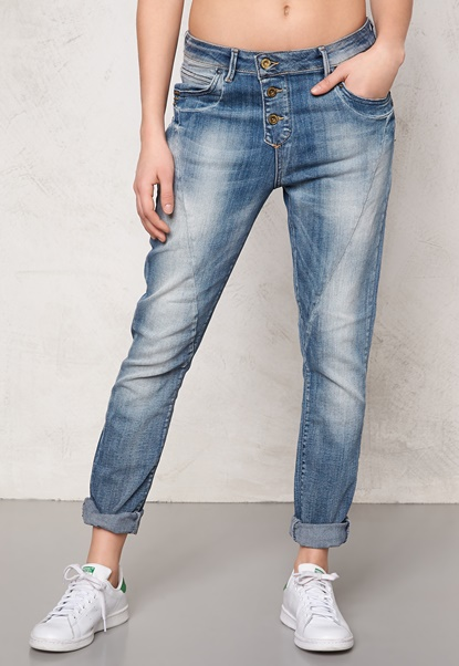 ONLY Lizzy Antifit Jeans Light Blue Denim Bubbleroom.se