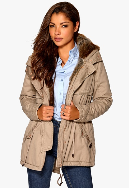 ONLY New Leeds Canvas Parka OT Brindle Bubbleroom.se