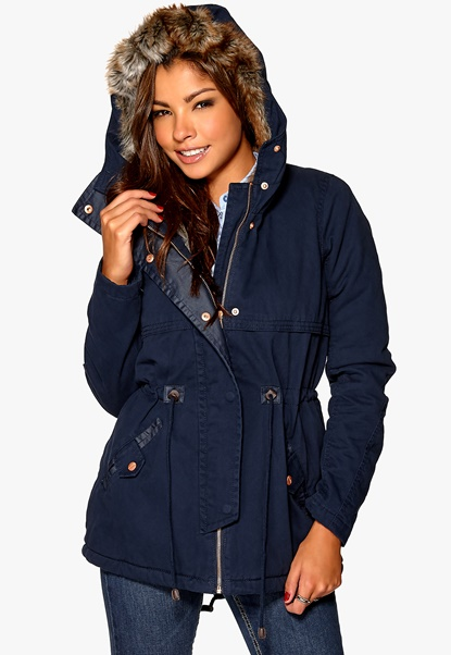 ONLY New Leeds Canvas Parka OT Navy Blazer Bubbleroom.se