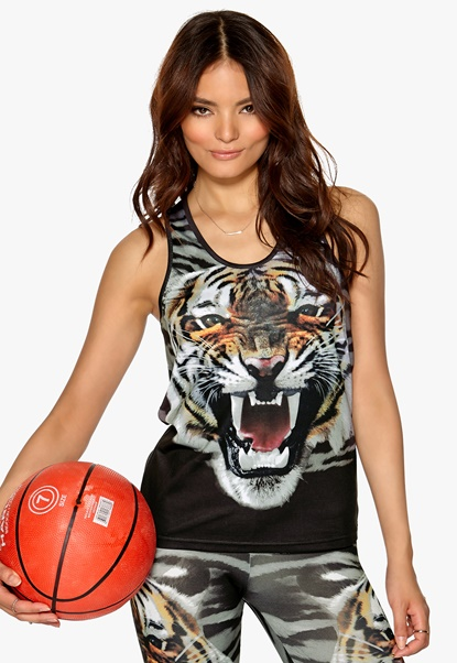 ONLY PLAY Tiger Tank Top Black Bubbleroom.se
