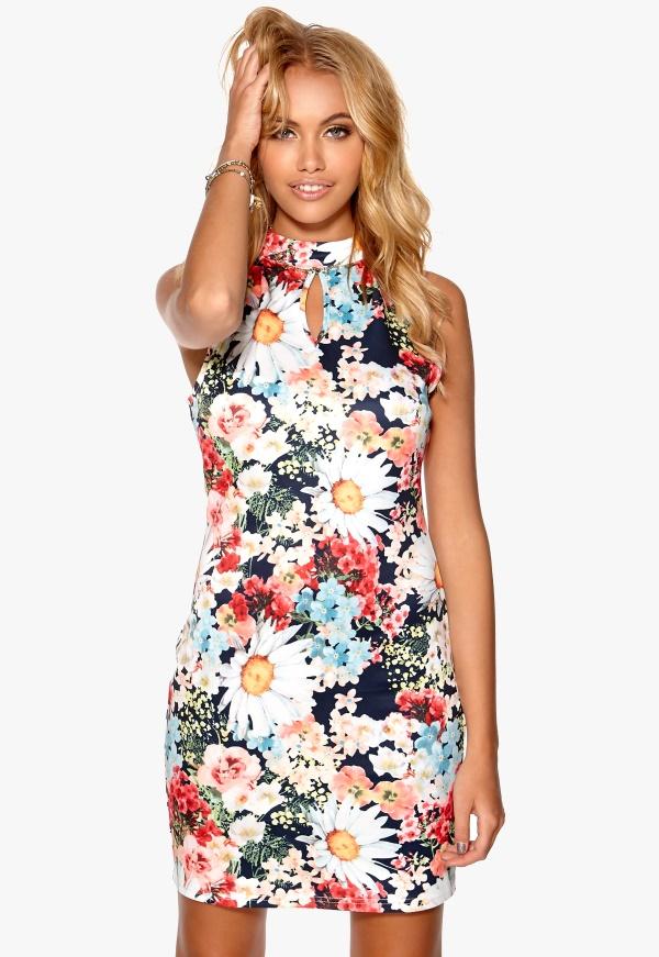 Flowerprint Knitted Dress