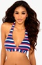 BEACHWAVE Bikini-bh Blue/Striped Bubbleroom.se