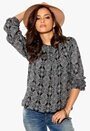 b.young Etnic Blouse 80001 Black Bubbleroom.se