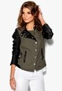 ONLY Licens PU Jacket Black/Green