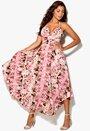Rich Bitch Tati Dress Pink/Green Bubbleroom.se