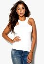 Rich Bitch Louise Holed Top Antique White