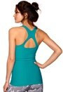 ONLY PLAY Helen Seamless Top Tile Blue
