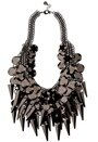Pieces Lupita Necklace Gunmetal