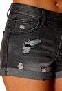 Pieces Funky Lagna Shorts Black