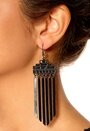 Pieces Otylia Earrings Gunmetal