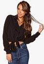 VILA Quick L/S Long Shirt Black Bubbleroom.se