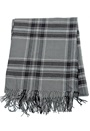 Sally & Circle Must Check Fringe Scarf 757 Black Check