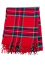Sally & Circle Must Check Fringe Scarf 753 Red Check