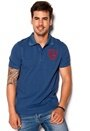 D.Brand Boudal Polo Navy/Red Bubbleroom.se
