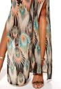 DRY LAKE Naomi Long Dress Mystic Print