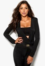 Mixed from Italy Katya Ruched Jumpsuit Black
