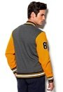 Majestic Burnside Fleece Letterman Charcoal Marl