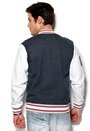 Majestic Burnside Fleece Letterman Navy