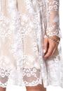 Make Way Nix Dress White/Nude