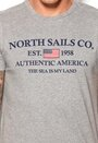 North Sails Stampa T-shirt Fumo