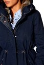 ONLY New Leeds Canvas Parka OT Navy Blazer