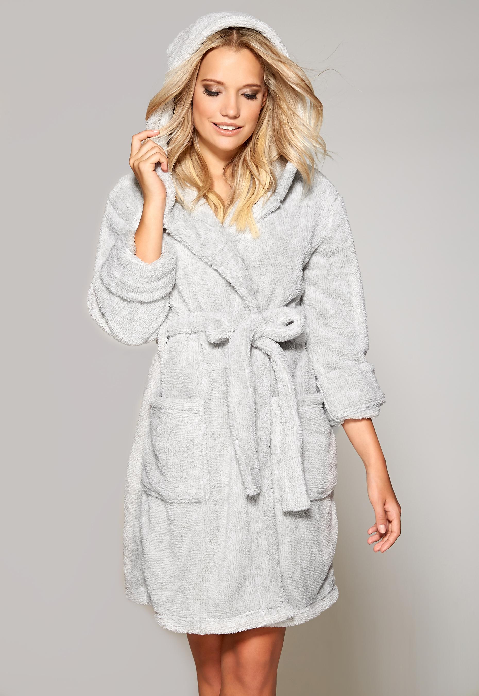 Chiara Forthi Ultra Soft Robe Grey Melange