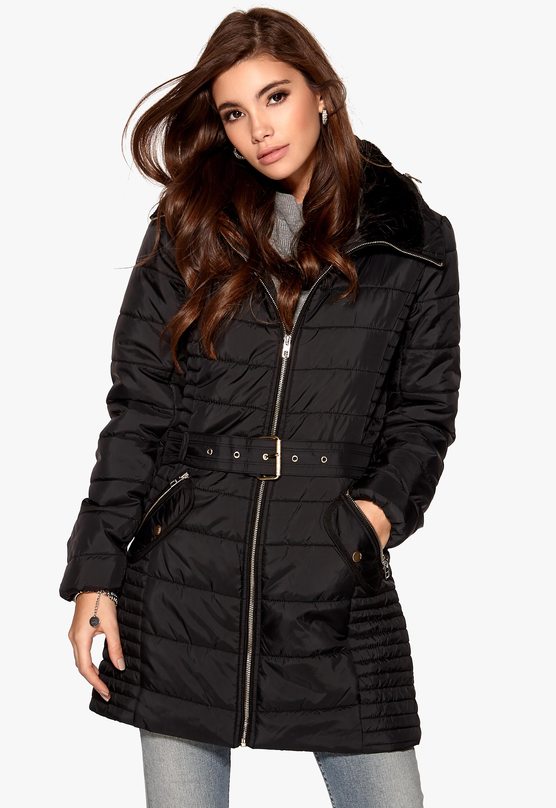 Black Nylon Coat 96