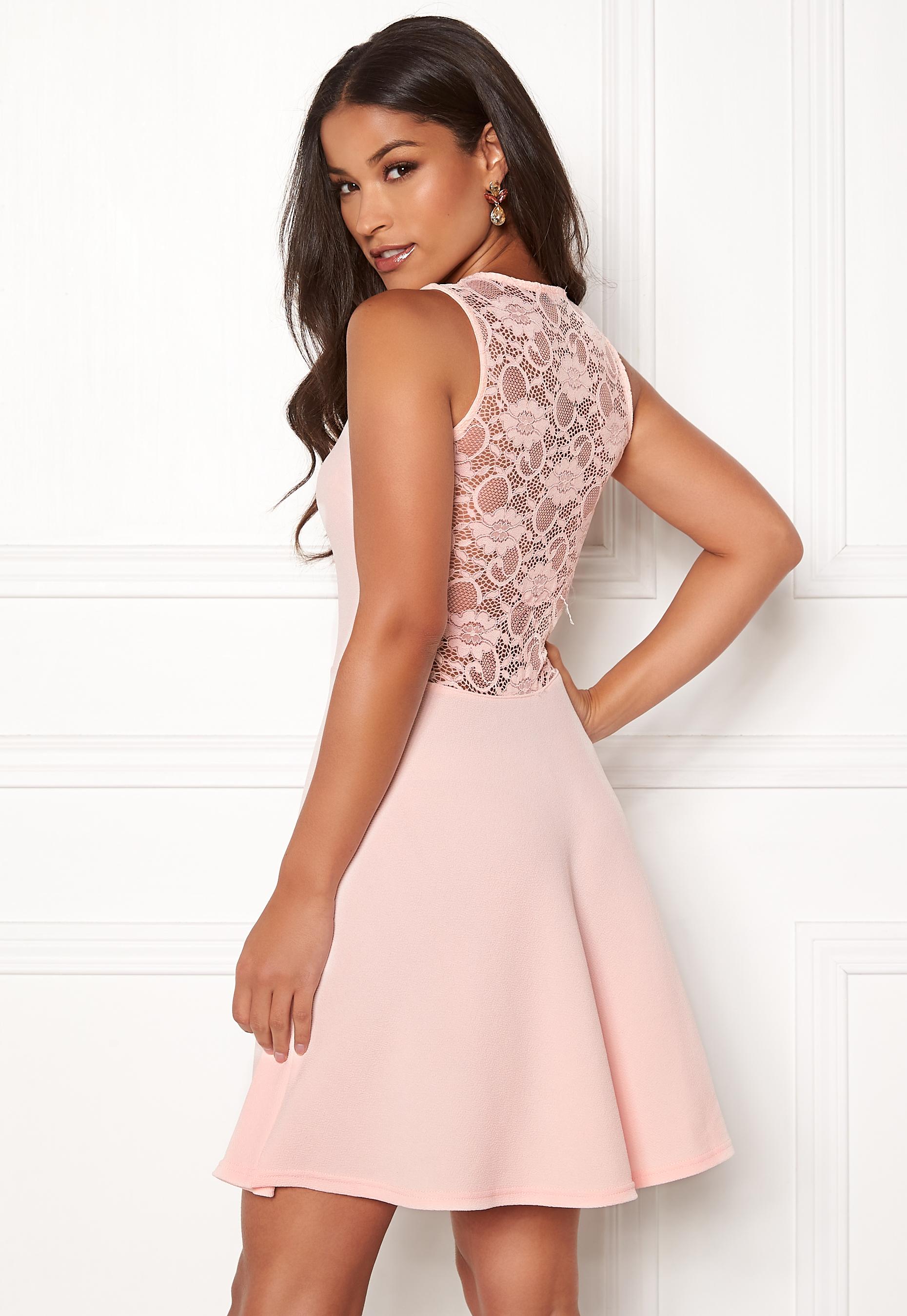 Sisters Point Nando Lace Dress 585 Rose - Bubbleroom 4e10944015ecb
