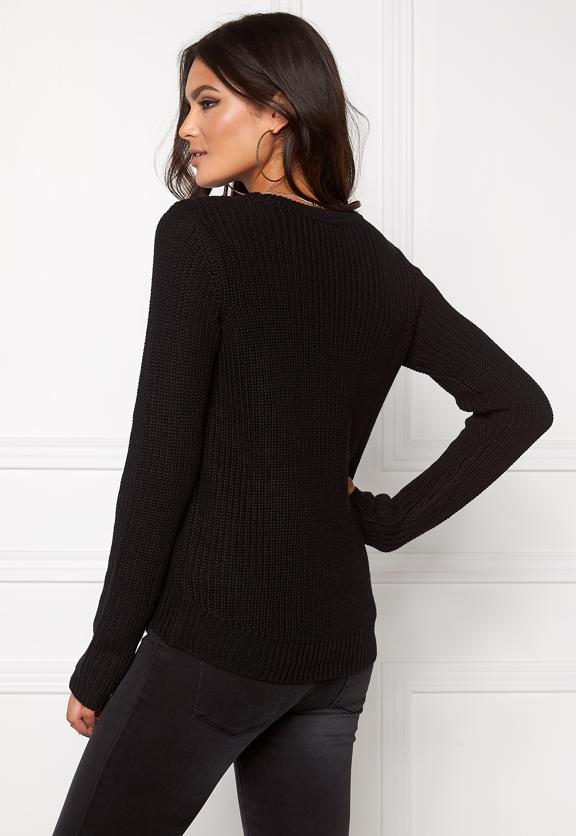 Vero Moda Knitting Yarns : Vero moda lex knit black bubbleroom
