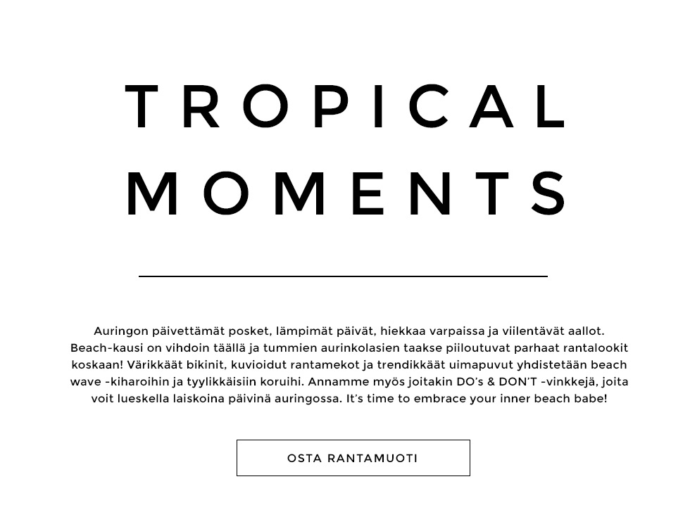 Tropical moments