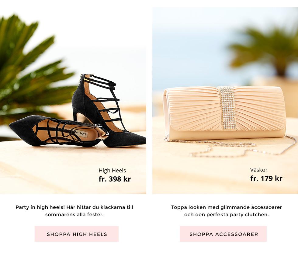 Shoppa high heels och accessoarer